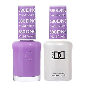 DND Duo Gel & Nail Polish Set - Vivid Violet 580 - 2x15ml