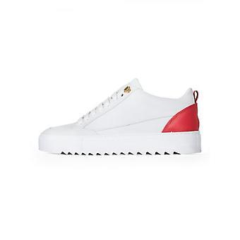 Mason Garments White & Red Leather Tia Sneaker
