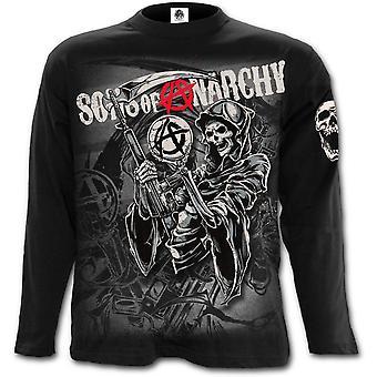 Spiraal-Reaper montage-zonen van anarchie lange mouwen t-shirt zwart
