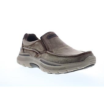 Skechers Expended Upsen  Mens Brown Canvas Lifestyle Sneakers Shoes