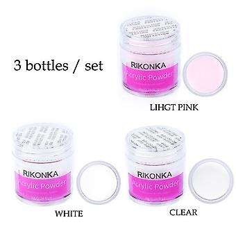 Acrylic Powder Poly Gel For Nail Polish - Pink Clear White Acrylic For Nails Manicure