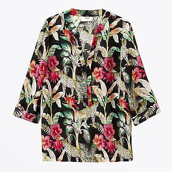 Pyrus  - Paola Floral And Leopard Printed Top - Multi