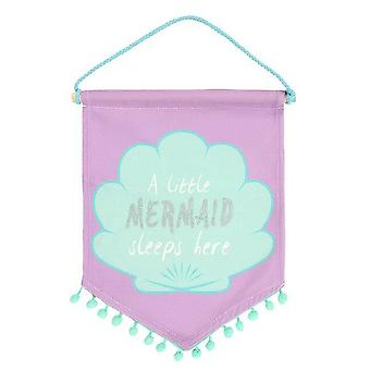 Something Different A Little Mermaid Sleeps Here Fabric Flag