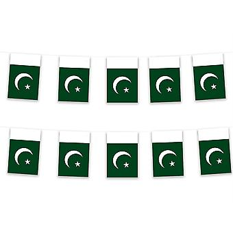 Pack of 3 Pakistan Bunting 15m Polyester Fabric Cricket Country