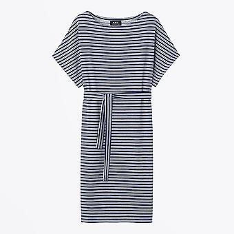 A.P.C. - Julia Striped Dress - Dark Navy