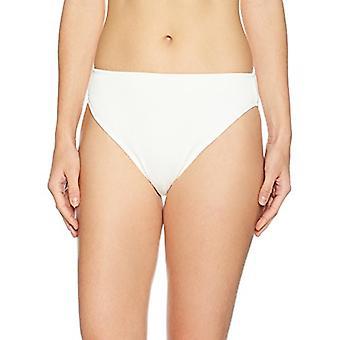 Brand - Mae Women's Swimwear Ribbed Bikini Bottom (voor A-C cups),Cream...