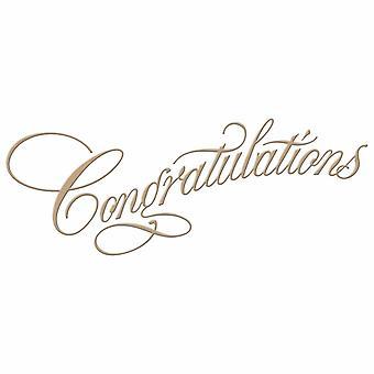 Spellbinders Copperplate Script Congratulations Hot Foil Plate
