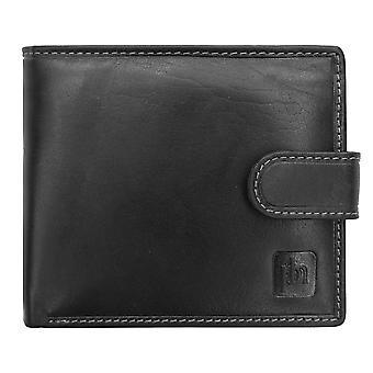 Primehide Mens Läder Plånbok RFID blockerande korthållare Notecase Gents 4701