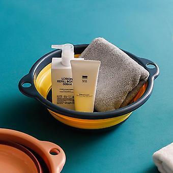 Creative Portable Plastic Basin Quick Fold Bucket