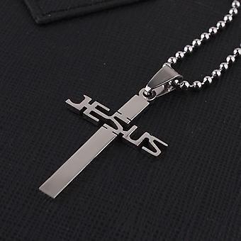 Titanium Stainless Steel Jesus Cross