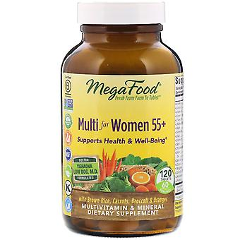MegaFood, Multi voor Dames 55+, 120 Tabletten