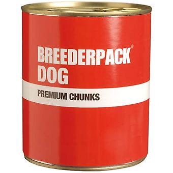 Breederpack Hund Premium Chunks Giant (6 Pack) - 800g
