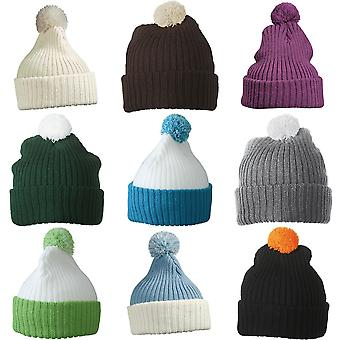 Myrtle Beach Adults Unisex Knitted Cap With Pompom