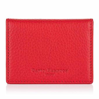 Porta-cartas de viagem de couro de Richmond vermelho