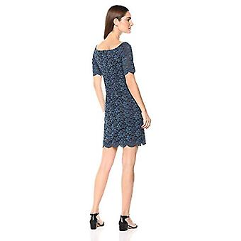 Lark & Ro Women's Half Sleeve Lace Off the Shoulder Sheath Dress, Marine Blue...