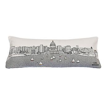 Spura Home Madison impresión pictórica skyline contemporáneo lana día / noche cojín