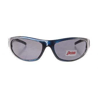 sportzonnebril unisex zilver/blauw met grijze lens