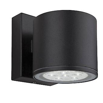 Firstlight Vegas - LED 6 Light Single Wall Light Black IP44