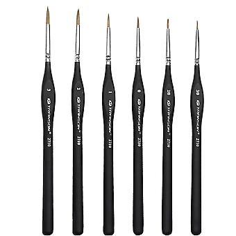 Wolf Hair Miniature Paint Brushes Set For Fine Detailing And Rock Painting