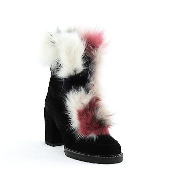 Stuart Weitzman | Yukon Fur Trim Block Heel Boots