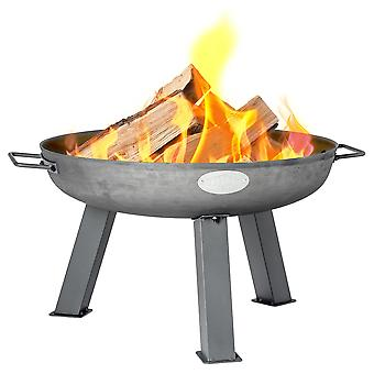 Cast Iron Fire Pit | Outdoor Garden Patio Heater Camping Bowl for Wood, Charcoal - 56cm Diameter
