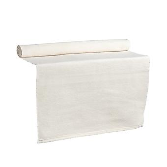 Nicola Spring Ribbed Rectangular Cotton Dining Table Runner - 183 x 48cm - Cream