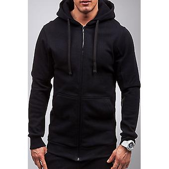 Zip-and-have straight-cut hooded sweatshirt