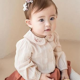 Autumn Cute Peter Pan Blouse Shirt For Newborn Baby