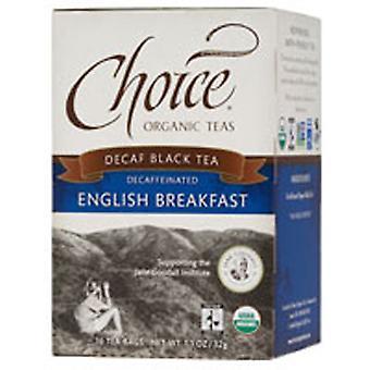 Choice Organic Teas Black Tea, English Breakfast Decaffeinated 16 bags
