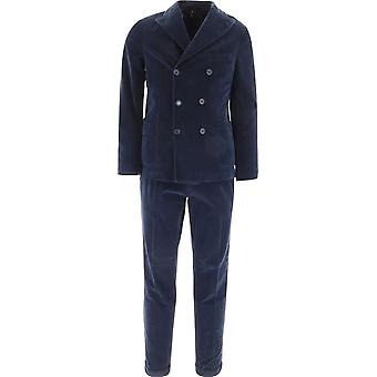 Santaniello Dse2807vl730mf779b Men's Blue Cotton Suit