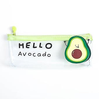 Pencil Case, Cute Avocado, Pencil Box Transparent Bag, School Stationery