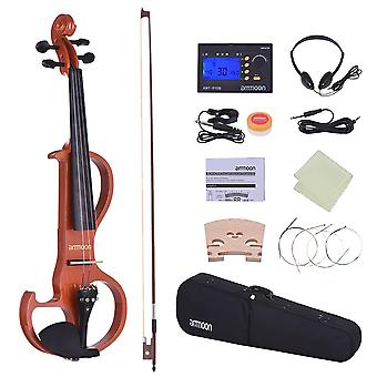 4/4 Violin Solid Wood, Electric Silent Fiddle, Fingerboard
