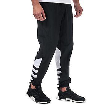 Men's adidas Originals Big Trefoil Tracksuit Bottoms in Black