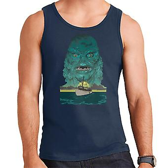 The Creature From The Black Lagoon Demon Head Boat Men's Vest