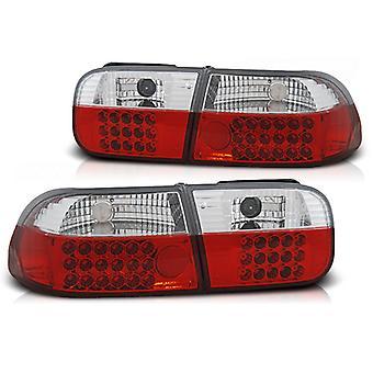 REAR LIGHTS HONDA CIVIC 09 91-08 95 2D/4D RED BRIGHT LED