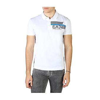 EA7 - ملابس - بولو - 3HPF17_PJ02Z_1100 - رجال - أبيض, أسود - M