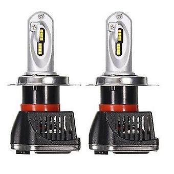 Pair 24W 6000K H4 LED High/Low Beam Headlight Kit 9-32V Driver White