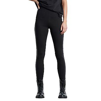 Funky Buddha Women's High-Wasted Leggings With Stripe