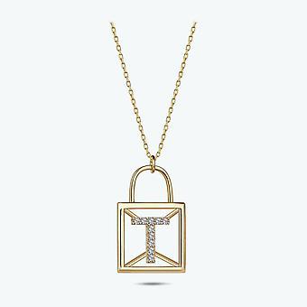 Collar de oro Carta T