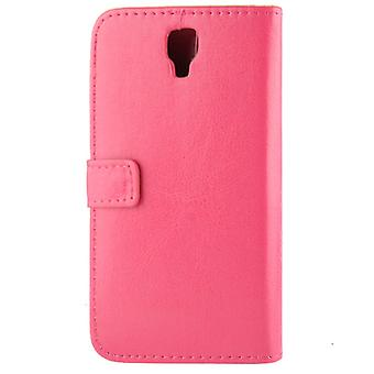 Horizontal Flip Leather Magnetic Buckle Case for Galaxy Note 3 Neo / N7505 (Magenta)