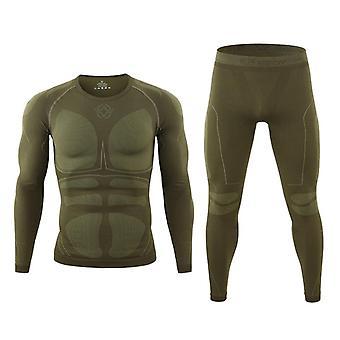 Veste d'ensemble de ski pour hommes et sous-vêtements thermiques pantalons en ski rapide-sec