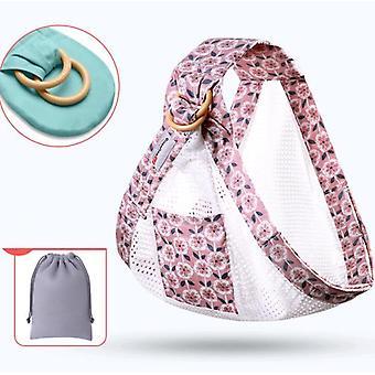 Baby Wrap Ring Sling Bärsele Ryggsäck Omvårdnad Täcka andas bomull väska