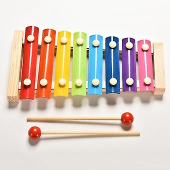 Music Instrument Toy Wooden Frame Xylophone Kids Baby Educational