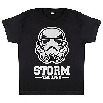 Star Wars Stormtrooper Mask Girls T-Shirt | Official Merchandise