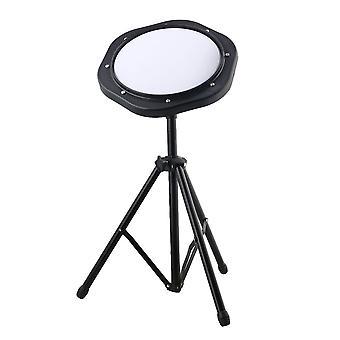 10inch 25cm Simulation Plastic Dumb Drum Practice Pad Set with Metal Stand