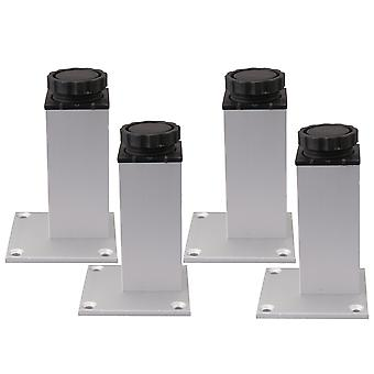 4 Pieces 10CM Height Aluminum Alloy Furniture Legs Adjustable Supporter