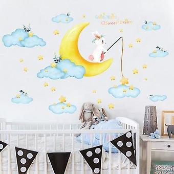 Cloud/moon/star Wall Sticker For Kid's Room
