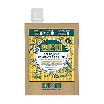 Concentrated shower gel - Eco-refill Vanilla / Monoï Oil 100 ml of gel