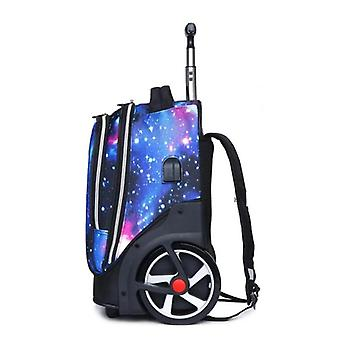 """Cuento de viaje 20"""" inch Carry On Lazy School Rolling Trolly Bag / Travel Backpack"""