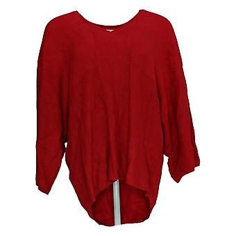Laurie Felt Mujeres's Sweater Cashmere Blend V-Neck Rojo A346622